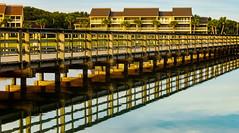 Seascape Reflections...(Explore 10/26/2017) (ArmyJacket) Tags: miramarbeach florida destin resort travel gulfofmexico seascape water reflections bridge