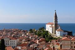 Piran, Slovenia - Old Town (GlobeTrotter 2000) Tags: adriatic europe piran saintgeorge sea square tartini venitian church mediterranean slovenia tourism travel vacation visit