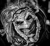 Advanced gurning (shame about the mask label sticking out!) (Andy J Newman) Tags: nikon monochrome silverefex street bristol bandw bw zombie d500 blackandwhite zombiewalk walk england unitedkingdom gb