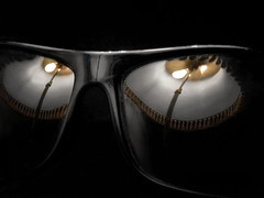 the ghost of glasses (All Shine) Tags: halloween macromondays macro reflections illusions dark ghost eyes glasses