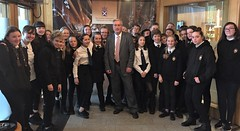 Welcoming S1 pupils from Knox Academy to Holyrood