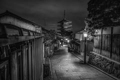 Kyoto B&W (karinavera) Tags: city longexposure night photography urban ilcea7m2 monochrome blackandwhite japan bw kyoto