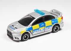 Mitsubishi Lancer Evolution X (MKZ123) Tags: tomica policecar tomy mitsubishi diecast uk england lancerevolution トミカ