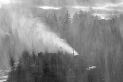 snow cannons in action (ignacy50.pl) Tags: winter winterlandscape snow snowing mountains travel wintertime slope blackandwhite monochrome landscape trees poland