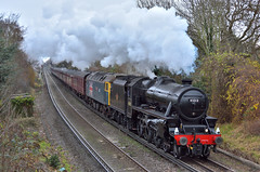 45212 on Cathedrals (ianmartian) Tags: steam stanier 45212 black5 1z51 cathedrals egham southend alton midhants special