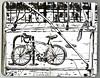Bicycle outside Native Foods (Floodfish) Tags: sketch urbansketch usk uskchicago2017 bicycle scaffolding brushpen sketchbook