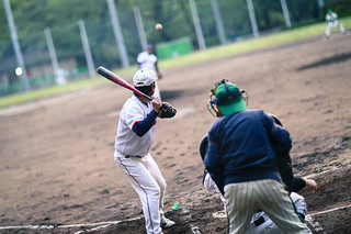 Baseball match at Ueno Park
