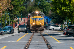 The Car eventually won the race (i nikon) Tags: union pacific up augusta street running ga