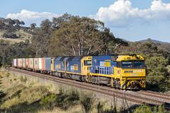 2017-12-12 Pacific National NR87-AN7-AN4 Towrang 2BM4 (deanoj305) Tags: pacific national intermodal container train 2bm4 nr87 an4 an7 main south line nsw