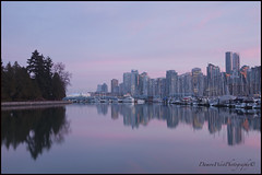 Vancouver 01076 BC web (DAMON WEST www.damonwestphotography.com) Tags: vancouver bc britishcolumbia canada stanleypark sunset forest reflection cityscape