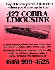 1993 Shelby 427 Cobra Limousine (aldenjewell) Tags: 1993 shelby cobra 427 limousine flyer