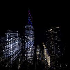 (cjuliecmoi) Tags: newyork pontdebrooklyn vacances voyage zoom manhattan brooklynbridge longueexposition longexposure city onewoldtradecenter zooming