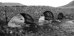 Old Sligachan bridge Isle of Skye Scotland (Dave Russell (1.5 million views thanks)) Tags: bw black white blackandwhite mono monochrome sligachan loch bridge architecture crossing road stone isle island skye scotland inner hebrides outdoor travel tourism old ancient river water stones