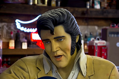 The Yellow Elvis Zombie (Pat Durkin OC) Tags: statue novelty figure elvis