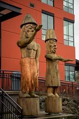 DSC_8370 (Copy) (pandjt) Tags: chilliwack bc britishcolumbia stólō stolo firstnation welcomefigures welcome sculpture carving publicart stólōnation