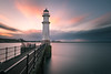 Newhaven Lighthouse (roseysnapper) Tags: firth forth newhaven harbour nikkor 2470 f28 nikon d810 long exposure edinburgh city landscape lighthouse outdoor river seascape sky sunset water sea