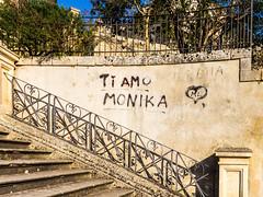 Dedicated to ,,, Monika! (krieger_horst) Tags: schmiedeeisen italien modica sizilientreppe geländer