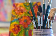 Paint brushes (www.higbyphotography.com) Tags: paint paintsupplies painter art artstudio artist artistic popart paintbrush texture paints brushes painting paintbrushes