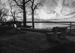 Untitled (MCarrabs) Tags: outdoors flag sunset colors red green yellow orange water woods trees forest glen cove new york park bench grass rocks bird brick flower plants leaves trail nature canon panorama black white gold horizon beach sand