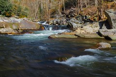 Laurel Creek (famasonjr) Tags: laurelcreek tn greatsmokeymountainsnationalpark fall trout fishing yellow blue nature great smokey mountains national park landscape hdr canonef28135mmf3556isusm canoneos7d canon eos 7d usa tennessee