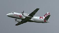 Sprint Air SP-KPV Saab340 Coventry(2) (cvtperson) Tags: spkpv saab 340 sprint air coventry cvt egbe