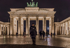 Sue at the Brandenburg Gate. (Tony_Brasier) Tags: night berlin dresden sue gate horse bluesky nikon sigma cathedral shops d7200 lovely location fun flickr bikes people peacefull germany bridge