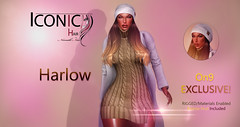 HARLOW_BANNER (Neveah Niu /The ICONIC Owner) Tags: iconichair neveahniu on9 meshhair beanie secondlife event