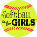 softball is for girls image