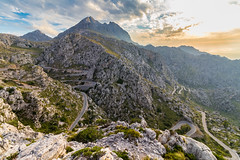 Road to Sa Calobra (hl_1001) Tags: spain mallorca hdr mountain landscape road mountainpass mountaintop viewpoint panoramic backlight