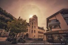 Vaduz's Glory (crystalchan777) Tags: switzerland swiss europe vaduz holiday glory sunset sunlight architecture church street autumn lovely swissalp naturallight outdoor nikond810 nikonphotography nikonlandscape naturebynikon