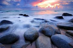 waves (pattana92392) Tags: seawave sea longexposure sunset coast water fineart stone