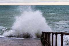Splash! (pnjavery) Tags: sea waves rough rollers beach splash seaford