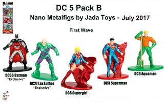 Jada Toys Nano Metalfigs - DC  5 pack B