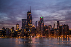 Chicago Skyline Sunset (Joshua Mellin) Tags: chicago sunset sony alpha joshuamellin photography photo photographer best skyline night winter christmas card forlicense tolicense license image pink blue bright orange fall autumn clouds dusk evening lights xmas season holiday holidays thanksgiving 2017 northavenue northavenuebeach beach view views lsd lakeshoredrive johnhancock johnhancockcenter johnhancockbuilding trumptower trumptowerchicago searstower sears tower trump willistower america american americanicon usa building buildings dramatic iconic beautiful most reflection lakemichigan lake greatlakes nightsky gotham movie movies cinema cinematic sonyalpha digital billboard ad