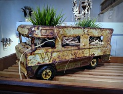 Youth.. where have You gone (Dave* Seven One) Tags: trashtotreasure winnebago indian motorhome 1970s tonka tonkatruck tonkatoy rusty rotted broken used trash junk store prop childhood memories