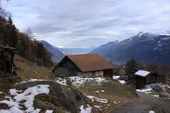 Ravoire (bulbocode909) Tags: valais suisse ravoire chalets granges raccards montagnes nature automne paysages neige forêts arbres nuages pierreavoi bleu