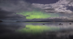 Green Energy (SkyeWeasel) Tags: scotland skye aurora auroraborealis northernlights landscape broadford broadfordbay reflection ngc npc