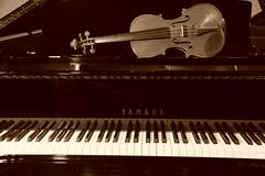 Violin and Yamaha C7X Grand Piano (SCSQ4) Tags: violin piano blackandwhite yamahac7x grandpiano sepia