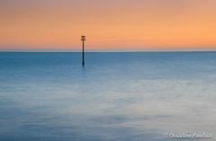 Teignmouth - all alone (C Sinclair) Tags: teignmouthpier devin pier mast longexposure hightide groyne