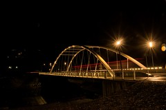 DSC_8440 (Copy) (pandjt) Tags: chilliwack bc britishcolumbia nightphotography vedderbridge vedderriver chilliwackriver bridge steelarchbridge archbridge