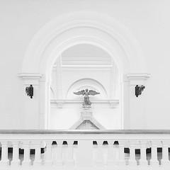 Arch, angel (Arni J.M.) Tags: sculpture archangel angel arch wall wings bw funeralmonumentofspinettamalaspina victoriaandalbertmuseum va england london uk