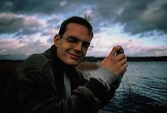Estephan (KirstineLjung) Tags: analog sky portrait värmland lake minolta xe1 xe7 sweden sverige clouds blue