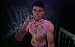 Addiction (EthanLeigh) Tags: lumipro secondlife second life addiction music song challenge prisoner sad weeknd man joint