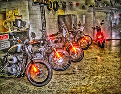 Racine Wisconsin ~ Harley Davies Shop - Harley Davidson (Onasill ~ Bill Badzo) Tags: shop mechanic harley davies davidson lights bikes ws racine wisconsin onasill popular hdr tires headquarters repair attraction hose house mount mt pleasant racinecounty