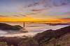 Black Friday Sunrise (KingXII) Tags: blackfriday latergram sony sunrise sanfrancisco nex7 goldengate karlthefog 1855 iso100 fog ilc goldengatebridge bay clouds sausalito california unitedstates us