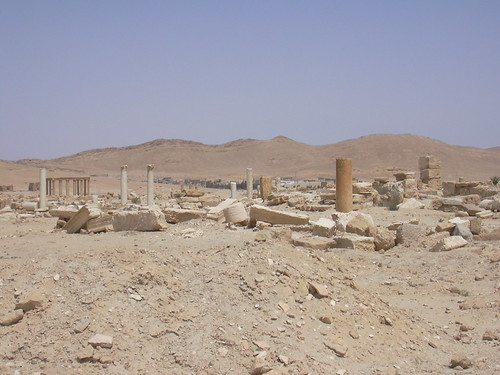 Palmyra (Tadmor), Blick über das Grabungsgelände