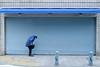 check_1430293 (strange_hair) Tags: check street tokyo japan shutter jinbocho blue