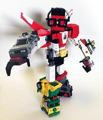 Nerdtron action pose (Oky - Space Ranger) Tags: lego bricknerd nerdvember nerdly nerdtron voltron defender 80s vehicles giant robot tmnt teenage mutant ninja turtles bttf back future ghostbusters ecto1 ateam van walkman