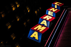 Cinerama (Ricky Osborne) Tags: night nightphotography cinerama theater seattle neon