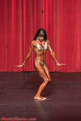 Hot Female Fitness Contestant (Rick Drew - 19 million views!) Tags: fitness workout model heels bikini red drapes curtain stage brunette pose posing posed rip ripped healthy fit